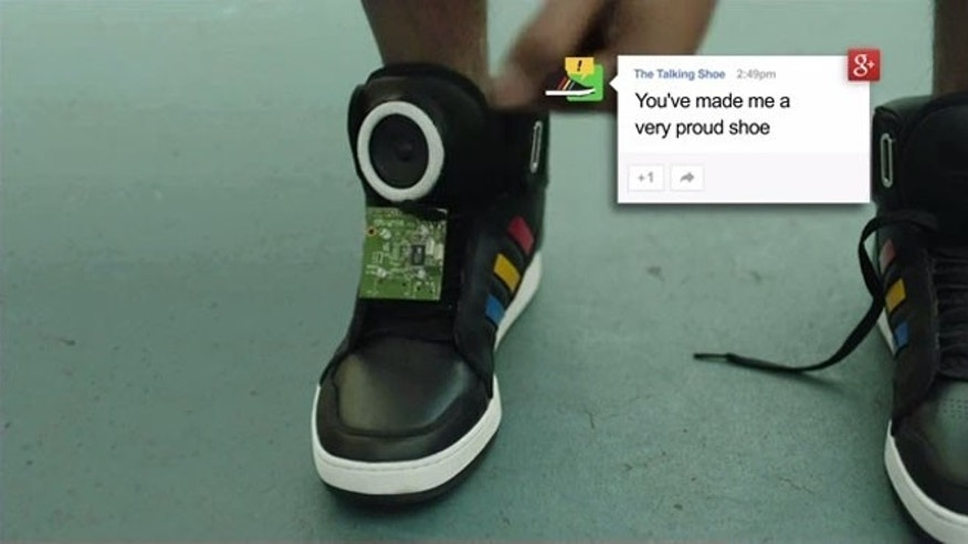 Tech giant Google unveiled a pair of talking shoes at SXSW.