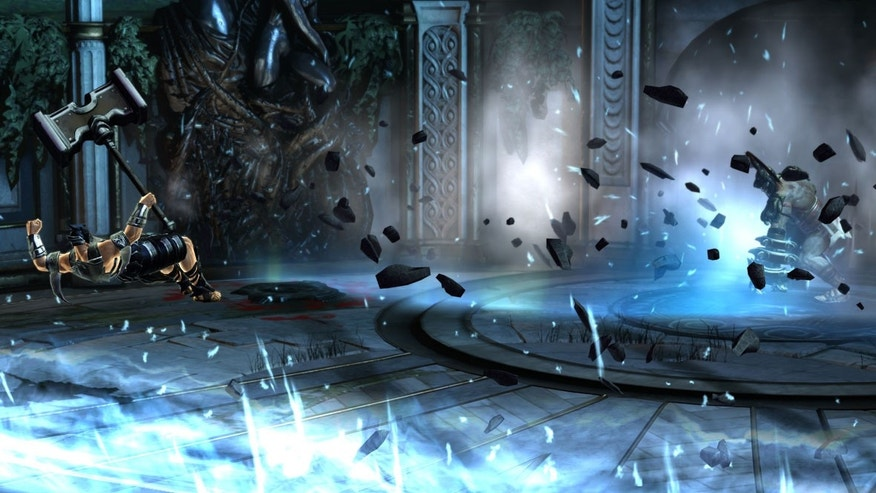 "A screenshot from the new game ""God of War: Ascension."""