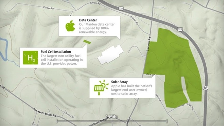 Apple's data center in Maiden, N.C., has earned the coveted LEED Platinum certification from the U.S. Green Building Council, the company said.