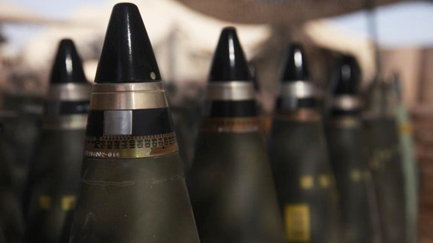 M795 projectiles like the ones pictured here will soon become equipped with IMX-101, making them far less likely to explode if dropped, shot at or hit by a roadside bomb during transport.
