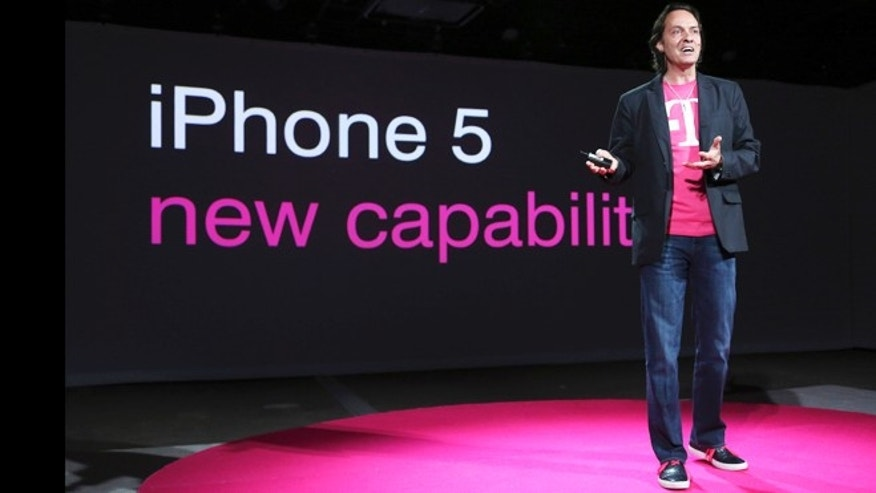 "March 26, 2013: T-Mobile CEO John Legere said the company will start offering the iPhone 5 on April 12, filling what Legere said was ""a huge void"" in its phone lineup."