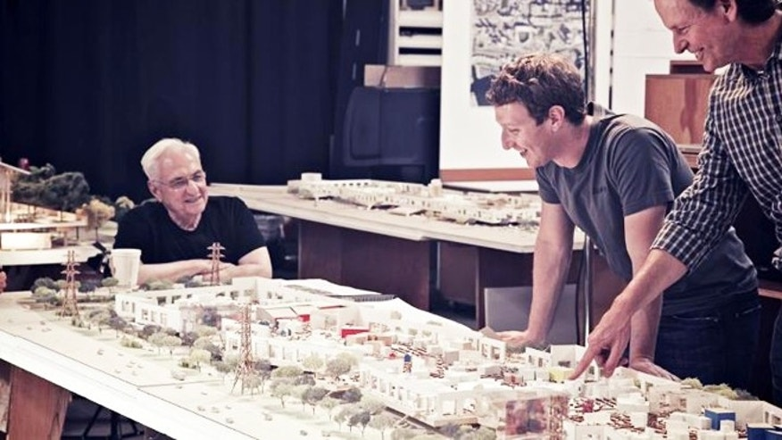 Aug. 24, 2012: Famed architect Frank Gehry has designed a new California campus for Facebook.