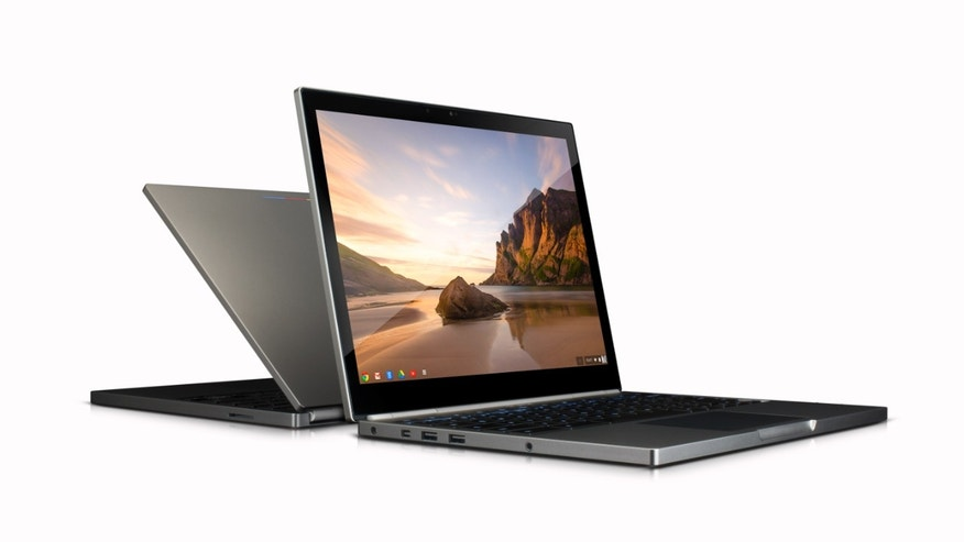 This image provided by Google shows the company's first high-end chromebook Pixel.