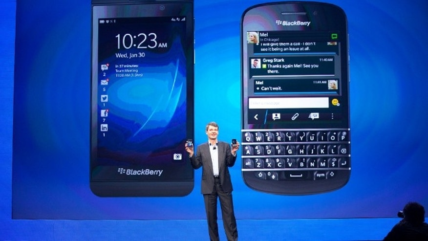 Jan. 29, 2013: Blackberry CEO Thorsten Heins presents the BlackBerry Z10 and the BlackBerry Q10.