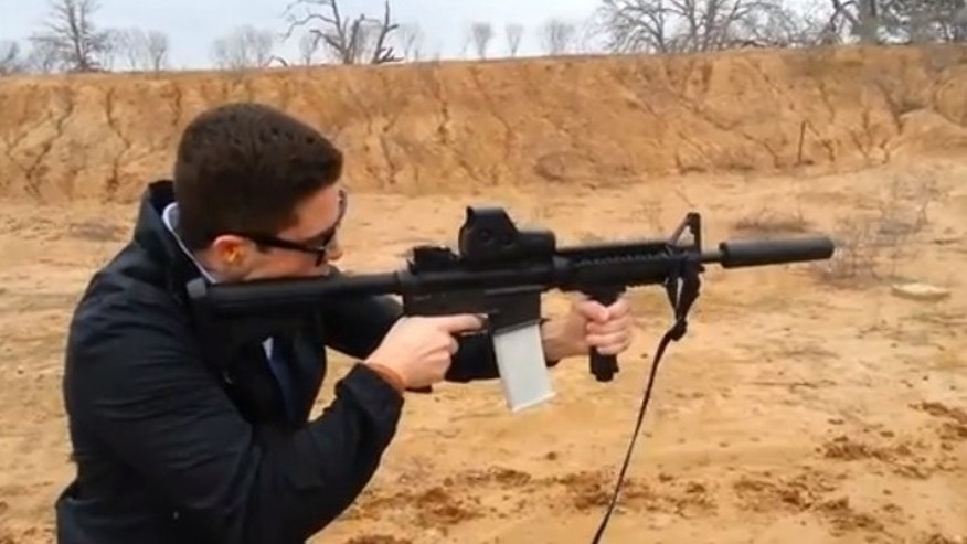 "Cody Wilson of Defense Distributed testing out the ""Cuomo Clip"""