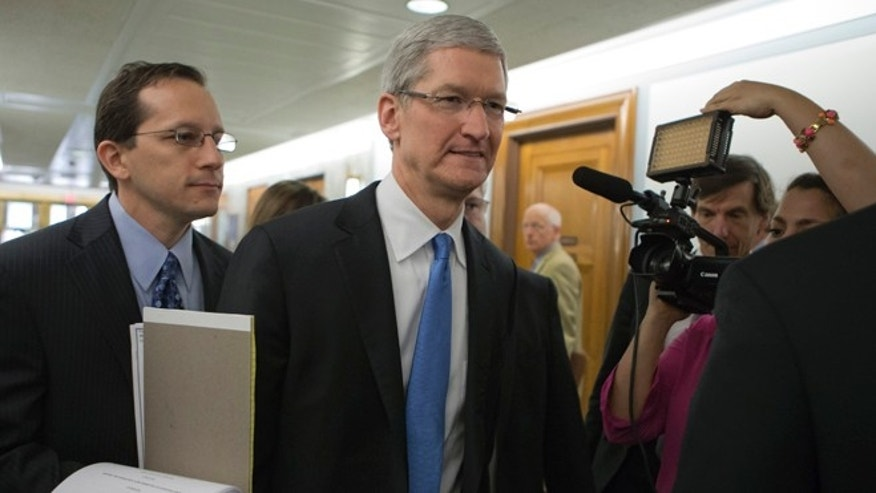 May 21, 2013: Apple CEO Tim Cook arrives on Capitol Hill, in Washington, to testify before the Senate Homeland Security and Governmental Affairs Permanent subcommittee on Investigations hearing to examine the methods employed by multinational corporations to shift profits offshore and how such activities are affected by the Internal Revenue Code.