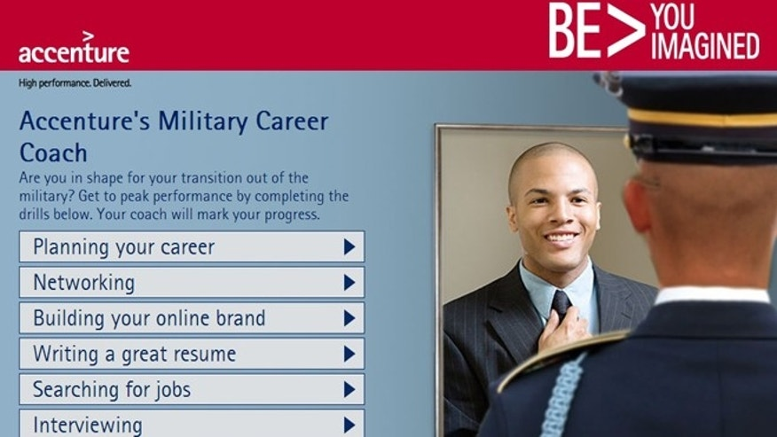 Accenture&#39&#x3b;s Military Career Coach will help a vet with resume development, job searching, interviewing and building an online profile.