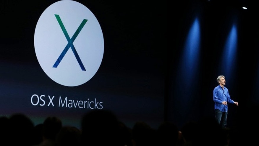 June 10, 2013: Craig Federighi, senior vice president of software engineering at Apple, introduces the new OS X Mavericks operating system during the keynote address of the Apple Worldwide Developers Conference in San Francisco.