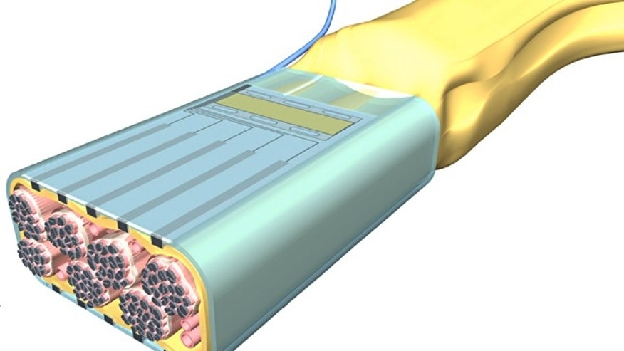 An artists concept of a flat interface nerve electrode (FINE), one type of implantable control for artificial limbs.