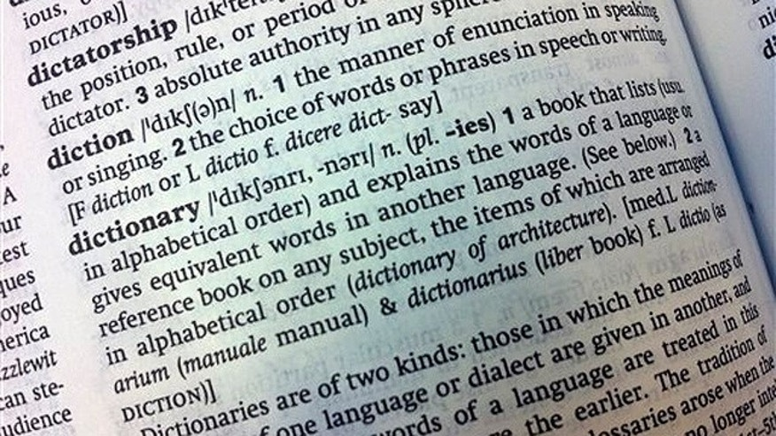 Aug. 29:  An entry in the Oxford English Dictionary, defining a dictionary. It's been in print for over a century, but in future the Oxford English Dictionary -- the authoritative guide to the English language -- may only be available to peruse online.