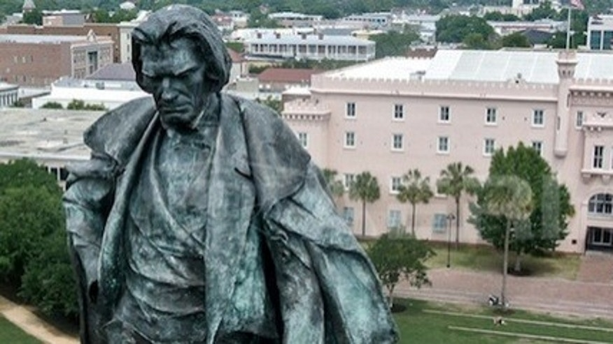 Design firm Beat Copter's image of the John C. Calhoun Statue in Charleston, South Carolina illustrates the unique photo angles that drones can capture.