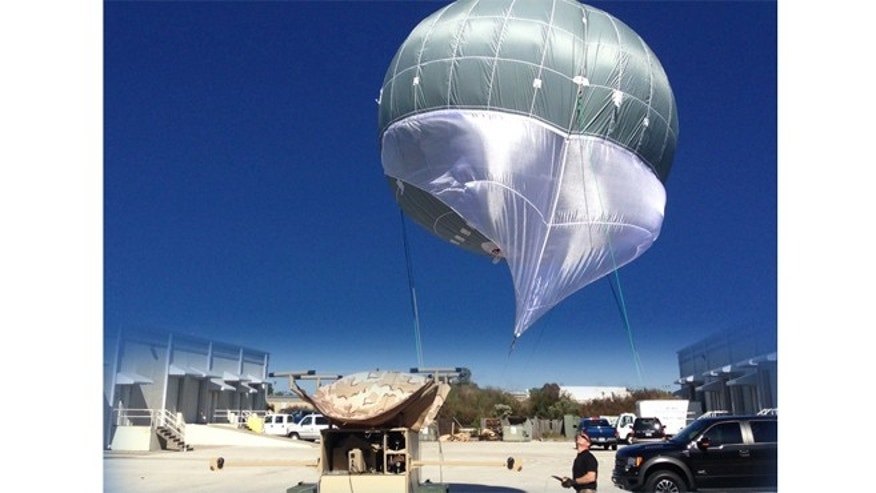 The blimp can be inflated and launched in 15 minutes.