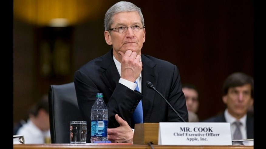 May 21, 2013: Apple CEO Tim Cook testifies on Capitol Hill in Washington before the Senate Homeland Security and Governmental Affairs Permanent subcommittee on Investigations.