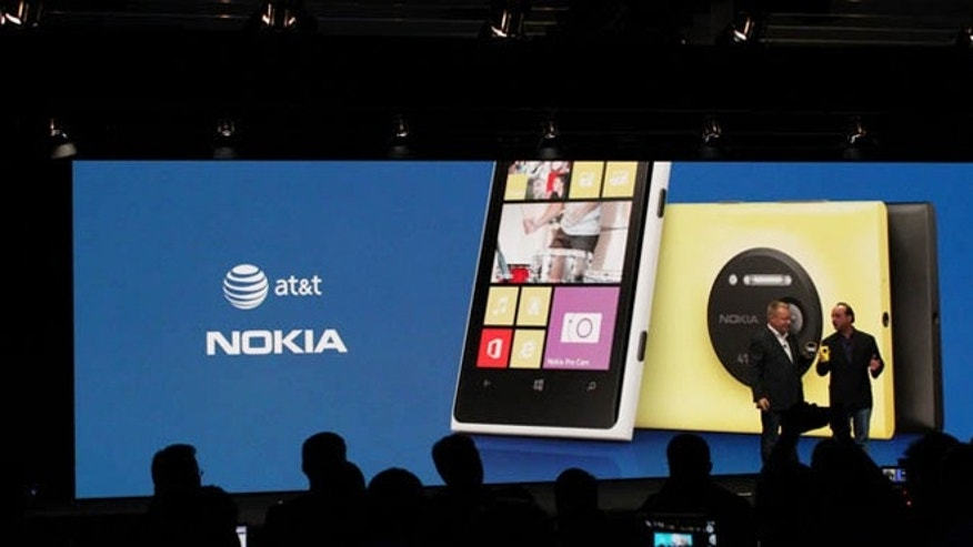 July 10, 2013: Nokia execs unveil the Lumia 1020 smartphone at an event in New York City.
