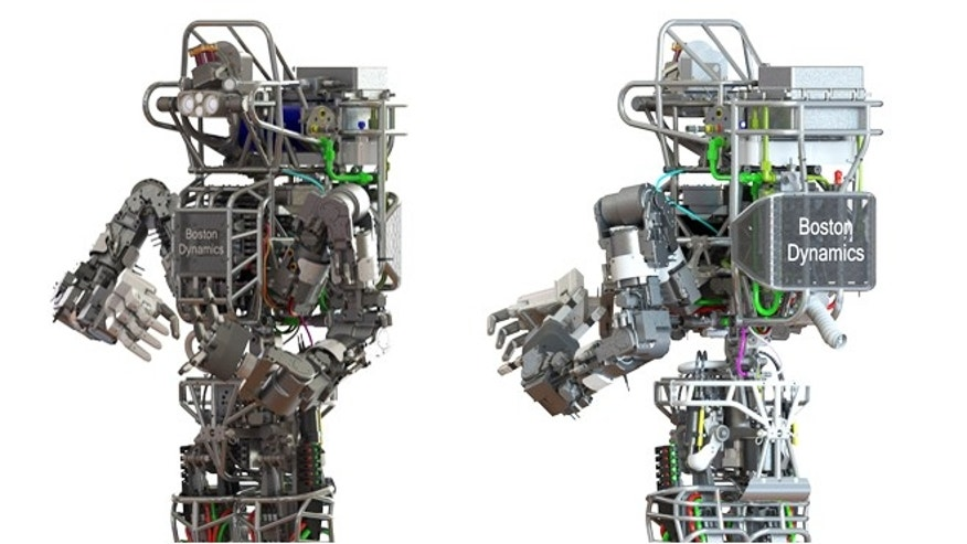 DARPA's Atlas robot, developed by Boston Dynamics, is six-foot-two and weighs 290 pounds.