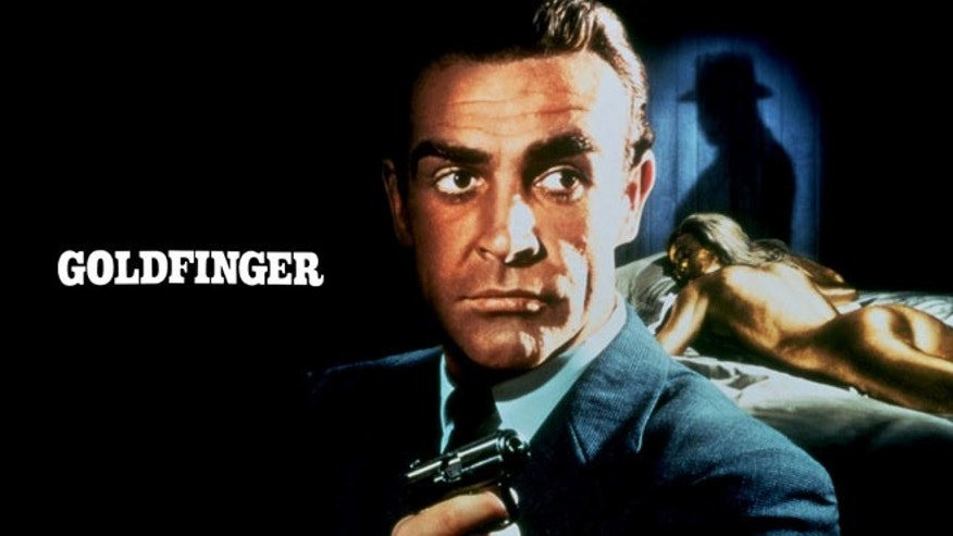 "Sean Connery stars as James Bond in the 1964 film, ""Goldfinger."""