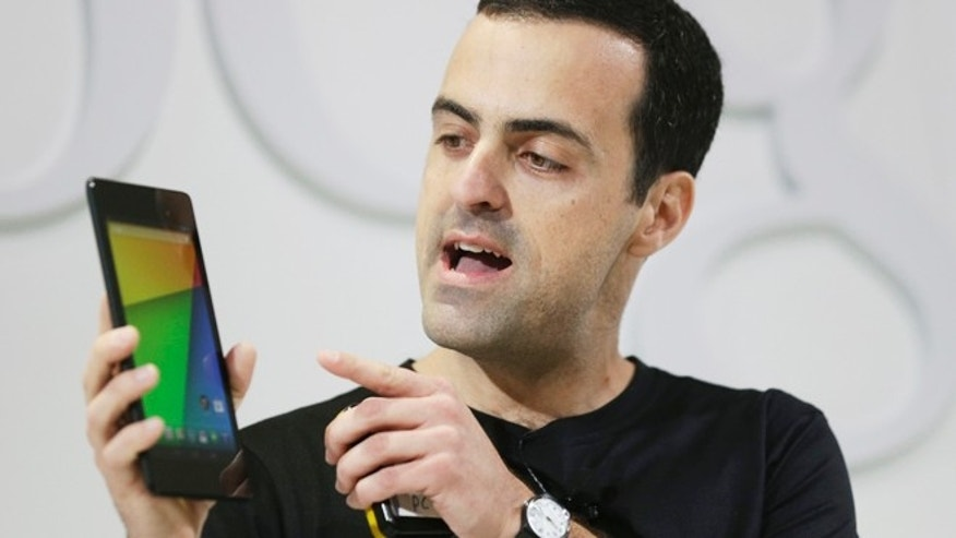 July 24, 2013: Hugo Barra, vice president Android product management at Google, displays the new Nexus 7 tablet in San Francisco.