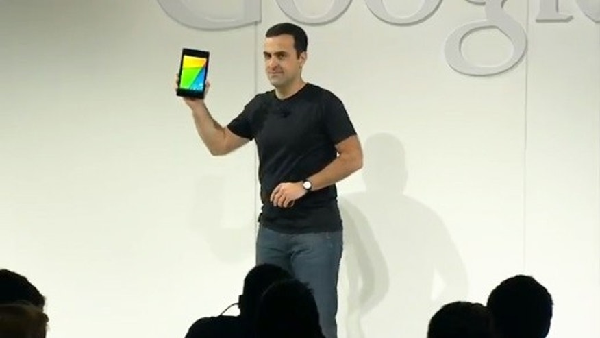 July 24, 2013: Google excutive Hugo Barra unveils the new version of the company's Nexus 7 -- the world's highest resolution tablet.