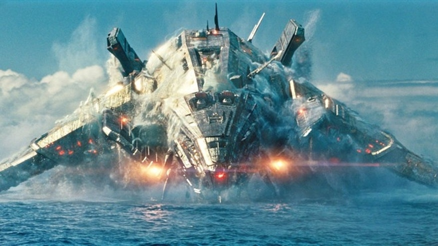 "A robotic alien invader rises from the Pacific in the movie ""Battleship,"" while in the real world robots are actively battling it out."