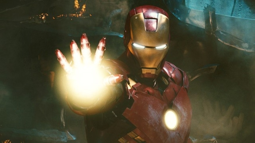 The iron-clad hero pictured in a scene from 'Iron Man 2.'