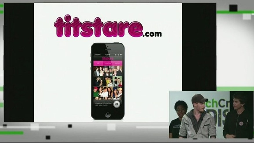"A presentation connected to the TechCrunch Disrupt 2013 show purported to show off the ""TitStare"" app, ultimately leading to an apology from the tech blog."