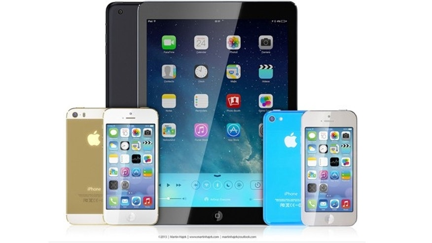 3D artist Martin Hajek's rendering of the rumored iPhone 5C, iPhone 5S and iPad 5.
