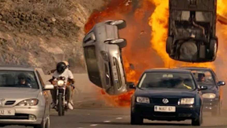 "A scene from the 2013 film ""Fast and Furious 6,"" Rated PG-13 for intense sequences of violence and action and mayhem throughout."