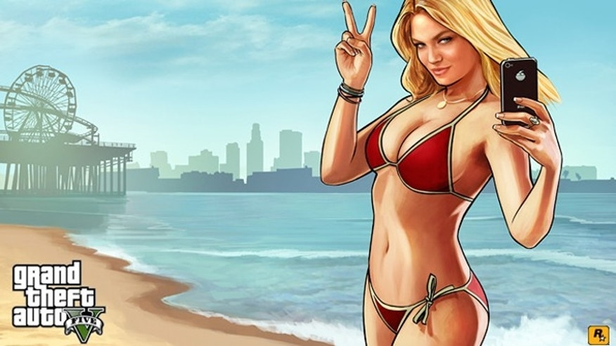 "Art from the game ""Grand Theft Auto V,"" set to be released Tues., Sept. 17."
