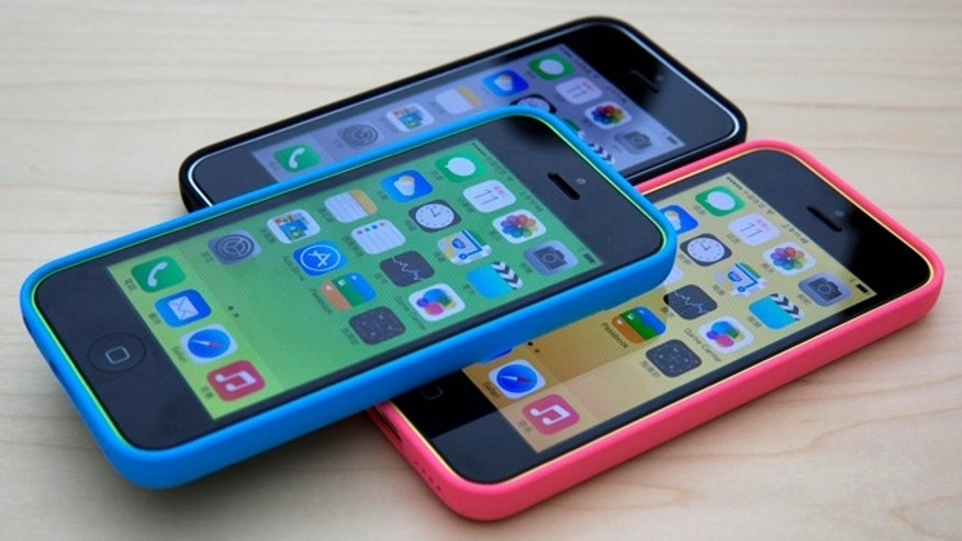 Sept. 11, 2013: New plastic iPhones 5C are displayed during a media event held in Beijing, China.