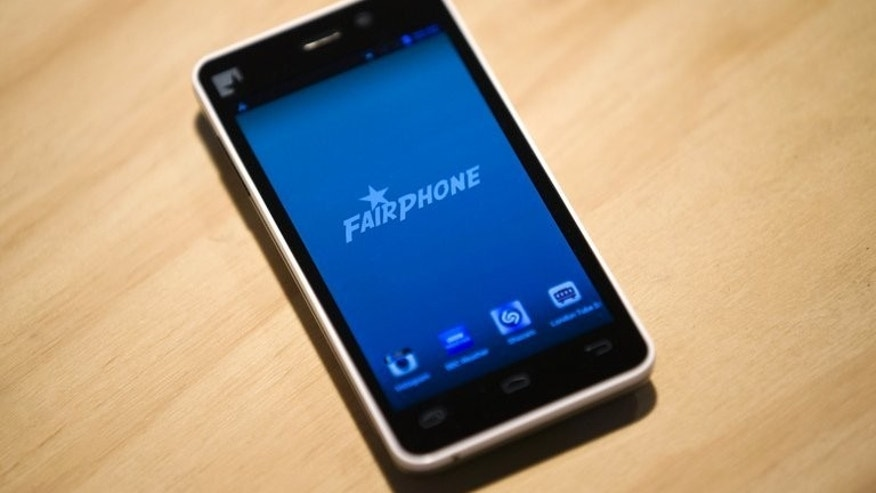 A prototype of a Fairphone smartphone during its unveiling in London on September 18, 2013. A device billed as the world's first ethically sourced smartphone was unveiled in London this week, but despite thousands of pre-orders its designer says the project remains a huge gamble.