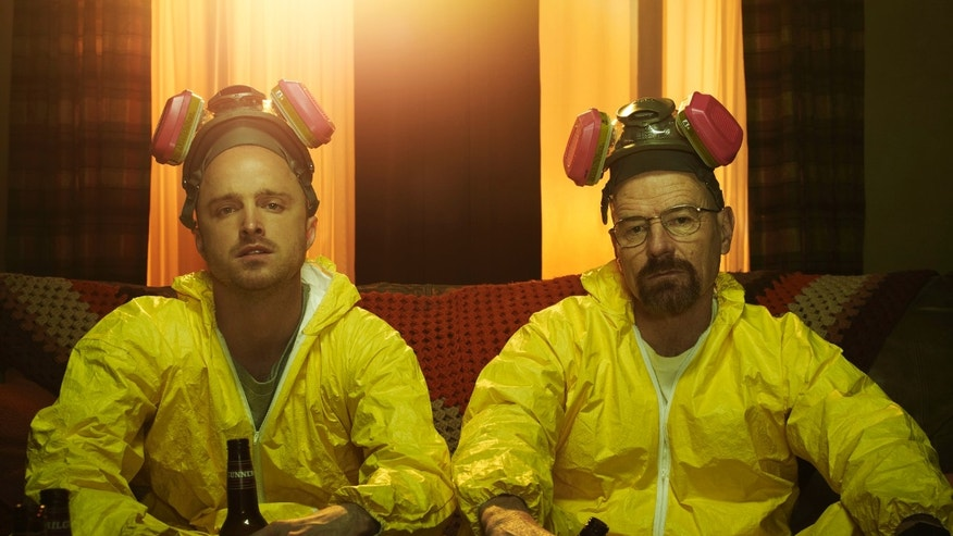 "Aaron Pauland as Jesse Pinkman and Bryan Cranston as Walter White in ""Breaking Bad."""