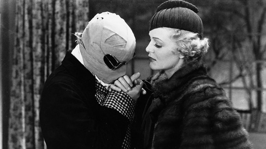 "A frame from the 1933 classic film ""The Invisible Man,"" based on the H.G. Wells science fiction book of the same name."