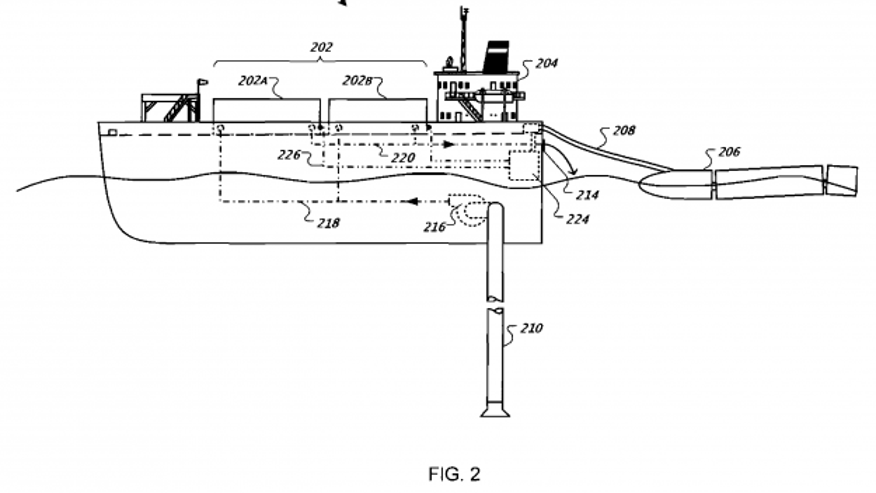 A Google patent image shows a design for a floating data center.