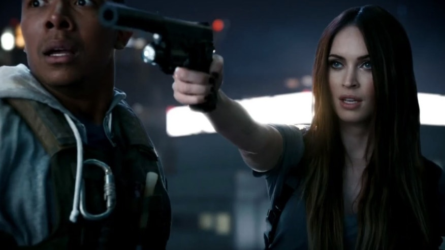"Actress Meghan Fox makes a cameo appearance in a new trailer for ""Call of Duty: Ghosts,"" the newest version of the popular military simulator."