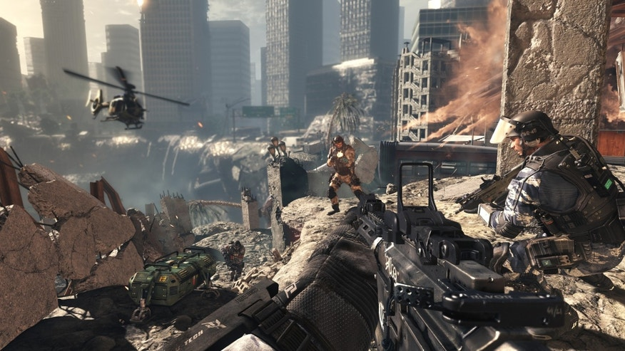 "Gameplay from the popular ""Call of Duty"" series."