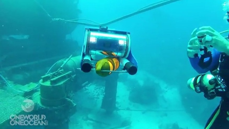 The OpenROV allows you to navigate the depths of the ocean from the comfort of a boat.