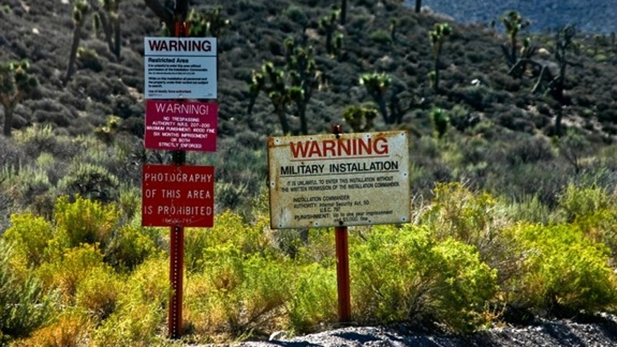 Warning signs tell people to stay away from Area 51.