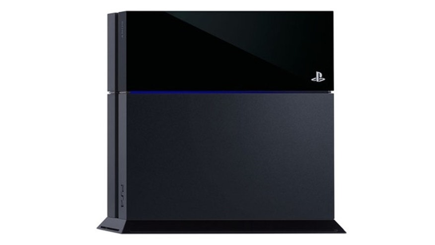 A slanted black box with both a matte and shine finish, with a sleek blue line through the middle, the PlayStation 4 will slot into most living rooms comfortably.