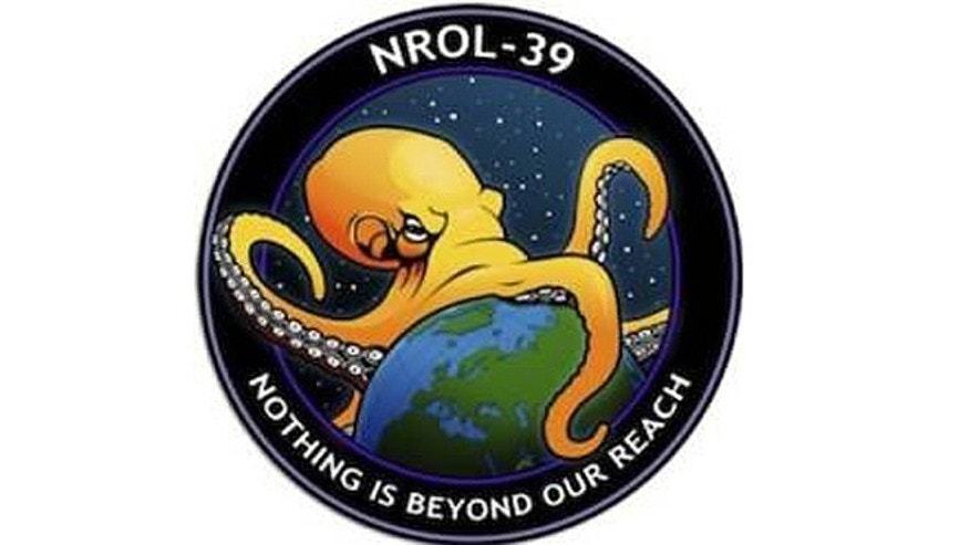 The logo for the latest secret mission by the National Reconnaissance Office has raised a few eyebrows.