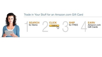 A screenshot of the website for Amazon.com's trade-in program.