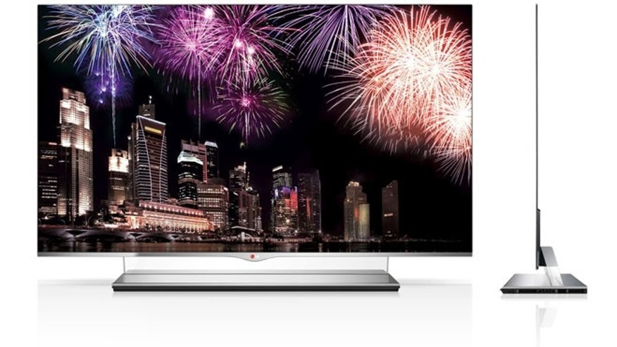 Jan. 2, 2013: The first big-screen OLED TV from LG Electronics, a 55-inch model with a hefty $10,000 price tag.