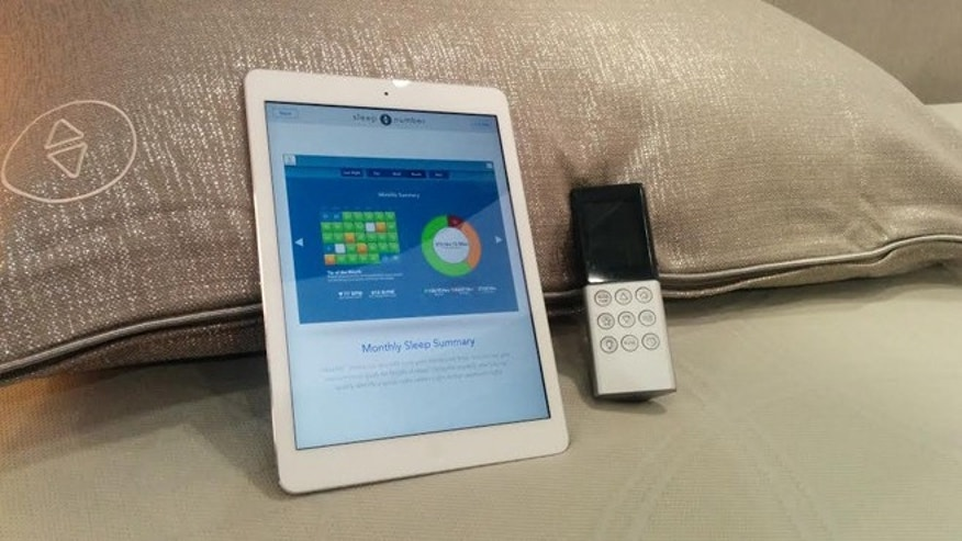 "Jan. 8, 2014: The remote control and iPad app for Sleep Number's new ""smart bed,"" the x12, seen at the 2014 CES."