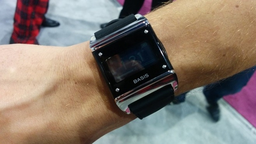 Jan. 8, 2014: The Basis smartwatch, seen in action at the 2014 CES.