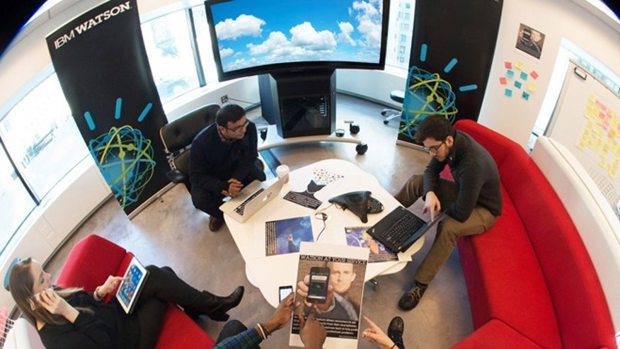 Jan. 9, 2014: IBM employees at the company's offices in New York City discuss next-generation Watson cloud apps that will be developed by the IBM Watson Group, a new IBM business unit headquartered in the heart of New York City's Silicon Alley.