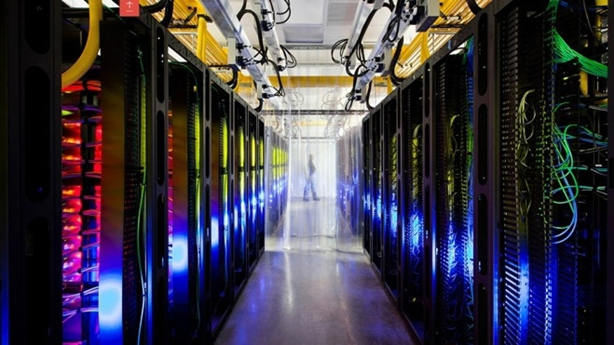 Oct. 16, 2012: Google offers a peek inside its Council Bluffs, Iowa, data center. Here, the company's campus network room, routers and switches that allowits data centers to talk to each other. The fiber optic networks connecting sites run at speeds that are more than 200,000 times faster than a typical home Internet connection, Google said.