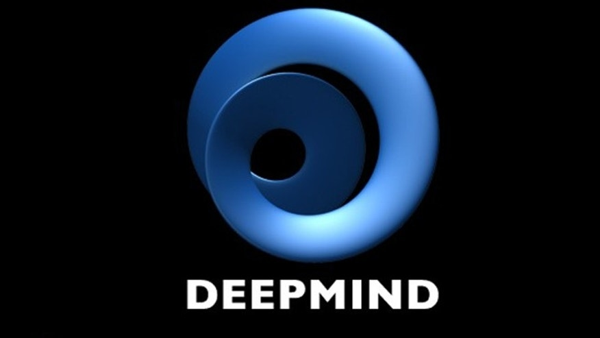 The logo for artificial intelligence firm DeepMind, which Google has reportedly purchased for as much as $500 million.