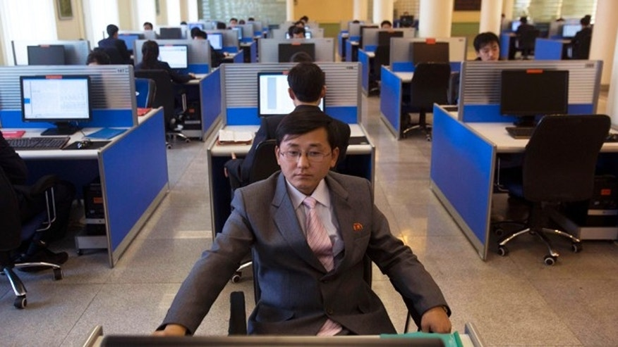 Jan. 8, 2013: A North Korean student works at a computer terminal inside a computer lab at Kim Il Sung University in Pyongyang, North Korea, during a tour by Executive Chairman of Google, Eric Schmidt.