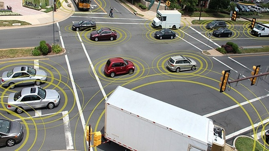 Ford demo of car-to-car communication shows what happens when cars ...