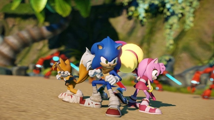 "This photo provided by Sega shows characters from the Wii U video game, ""Sonic Boom."""