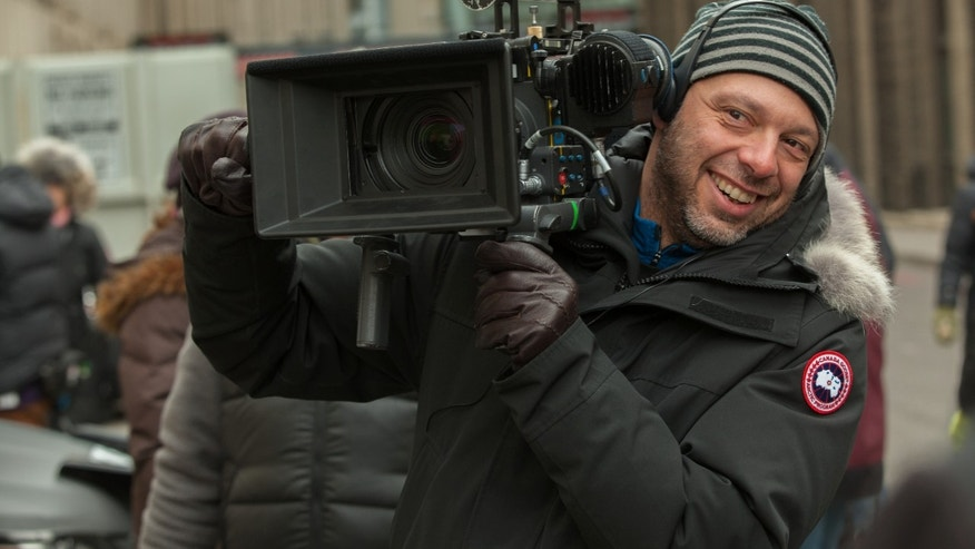 "Director Jose Padilha on the set of Columbia Pictures' ""Robocop,"" starring Joel Kinnaman."